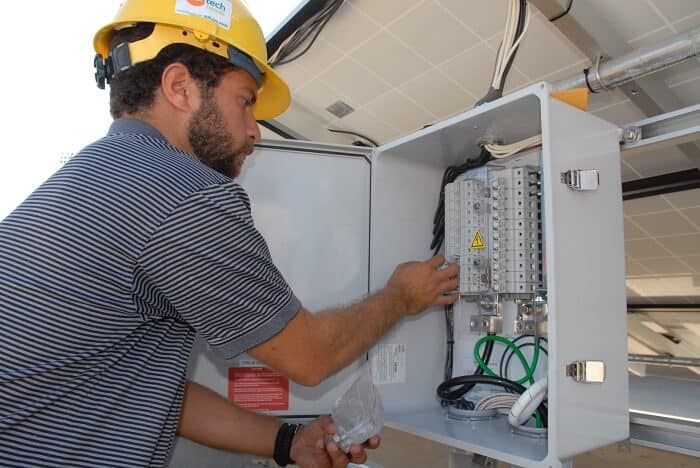electrical engineer working on electrical systems