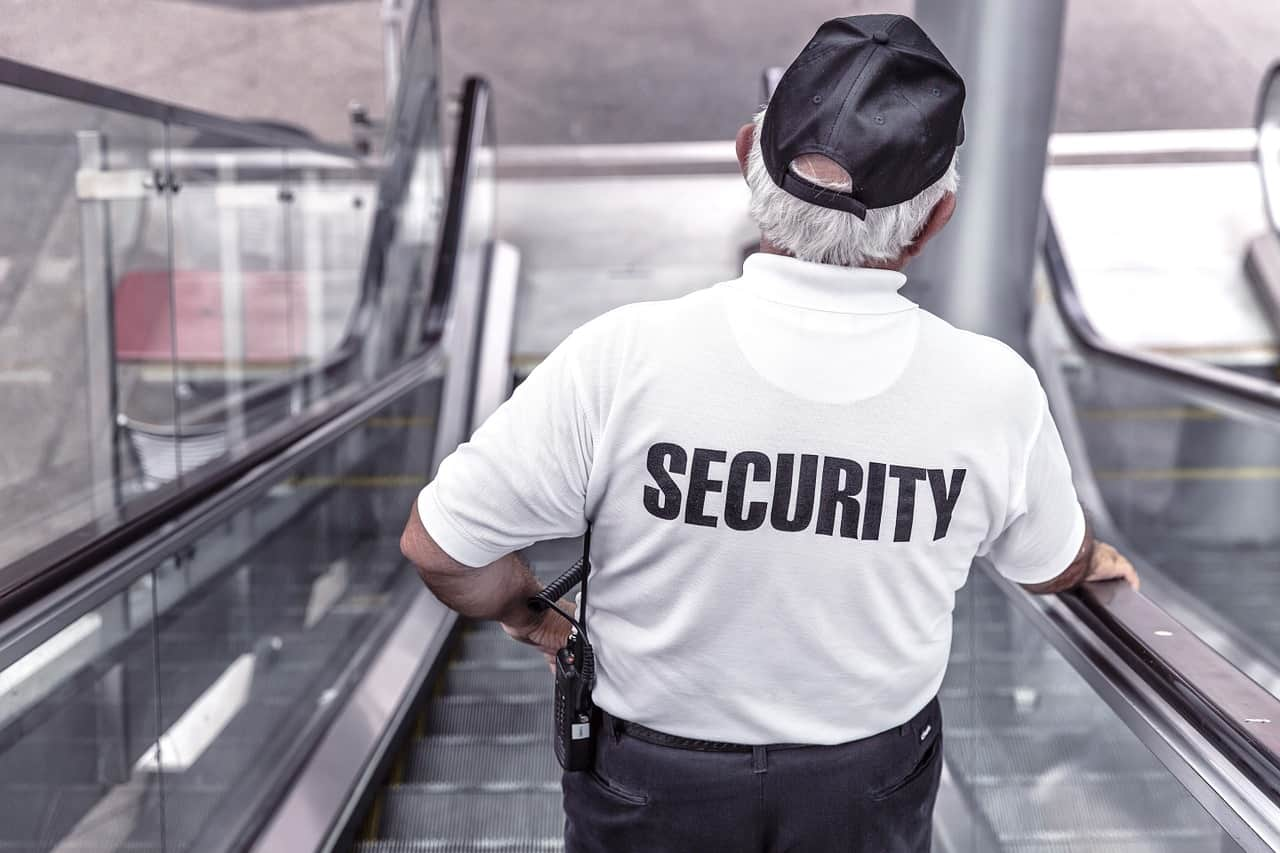 old man Security Officer